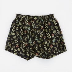 Druthers. Wildflower Boxer Short - Black/Multi
