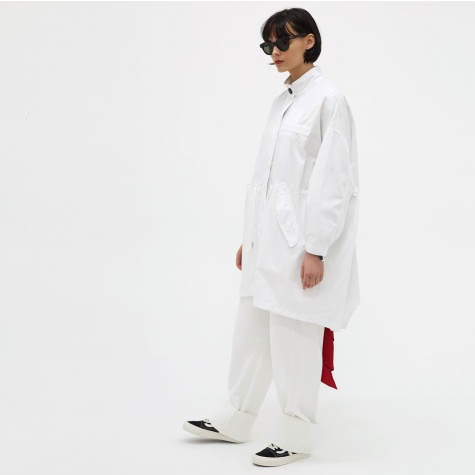 MM6 Mid Length Coat - White