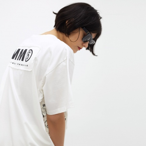 MM6 American Jersey T-Shirt - Off White