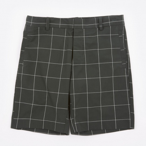 Paolo Shorts - Dark Green Check