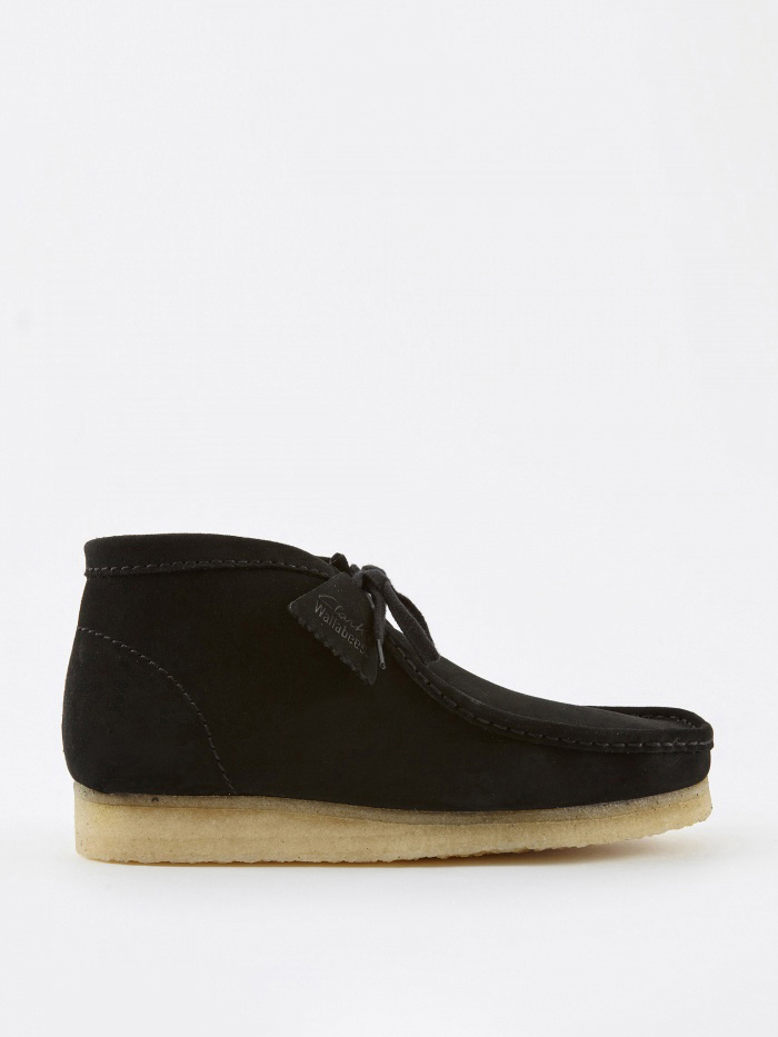 Clarks Originals Clarks Wallabee Boot - Black/Natural (Image 1)