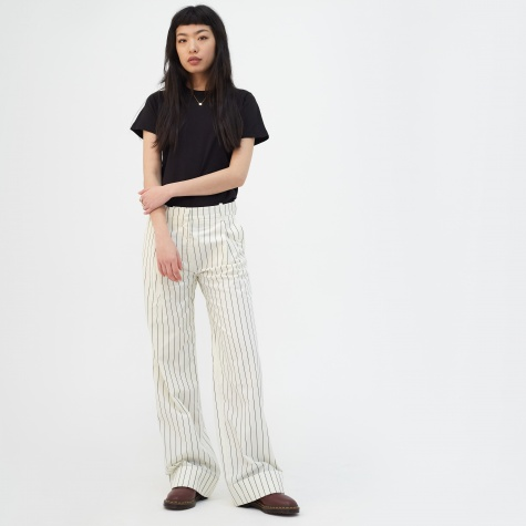 Marissa Trouser - Off White Pinstripe