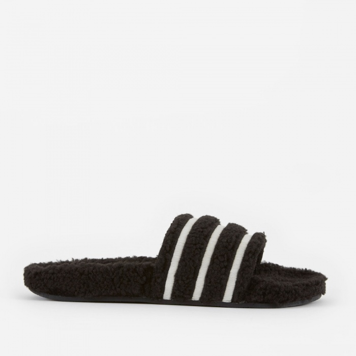 Adidas Adilette - Black/Chalk White/Black (Image 1)