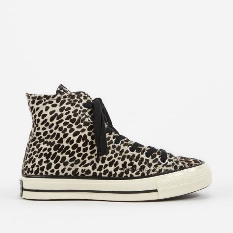 1970s Chuck Taylor All Star Hi Cheetah - Black/Black/Eg