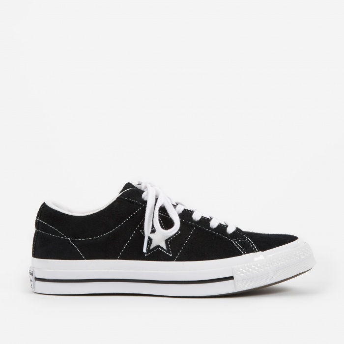 Converse One Star Ox - Black/White/White (Image 1)