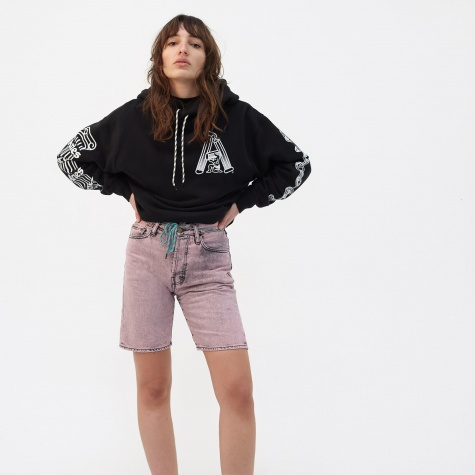 Aceed Jeans Shorts - Black/Pink