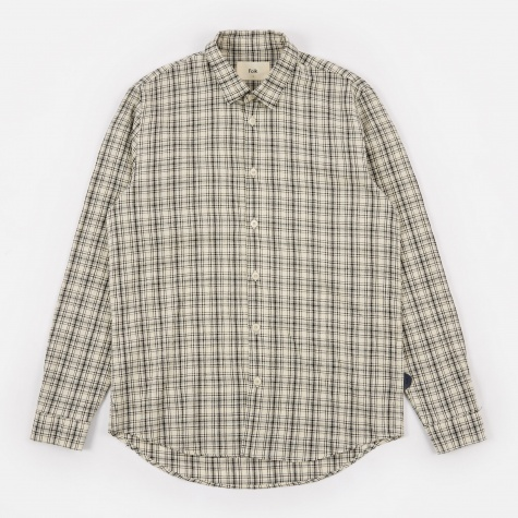Storm Shirt - Ecru/Black Check