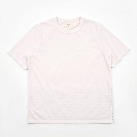 Panel Stitch T-Shirt - Ecru/Desert Red