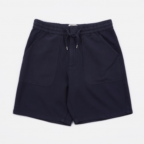 Combination Sweat Short - Washed Navy