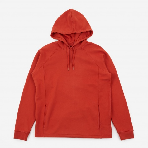 Rivet Hooded Sweatshirt - Desert Red