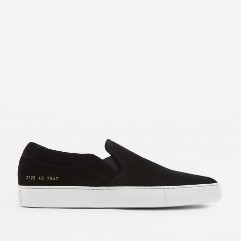 Suede Slip-On - Black