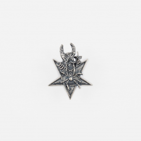 x Neckface Metal Badge - Silver