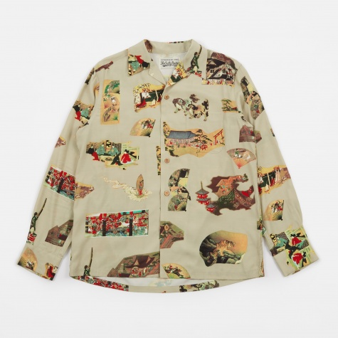 Japan Hawaiian Shirt - Mint