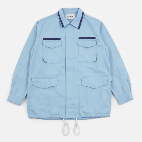 Embroidered Field Jacket - Blue