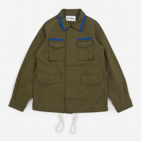 Embroidered Field Jacket - Olive