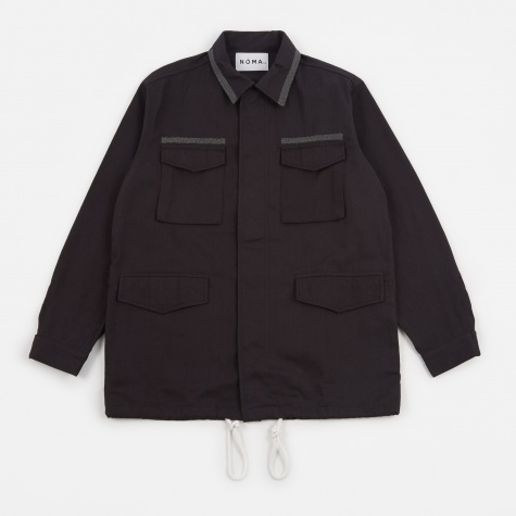 Embroidered Field Jacket - Black