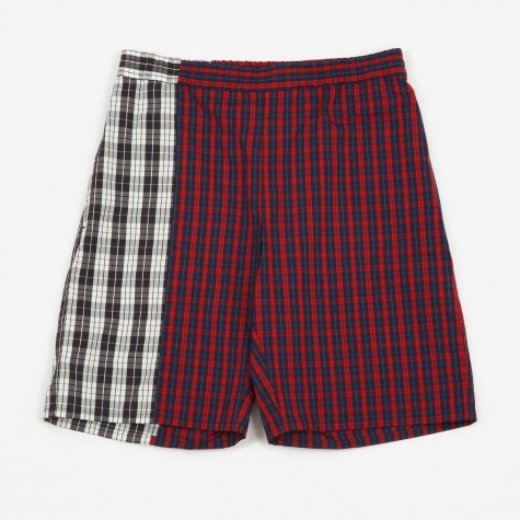 Combo Check Short - Red/Black