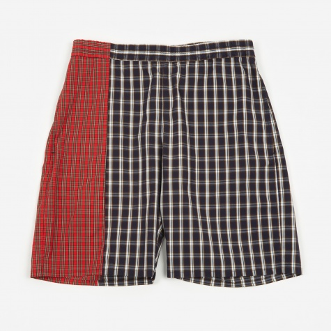 Combo Check Short - Brown/Red