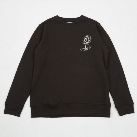 Tessio Printed Sweatshirt - Black