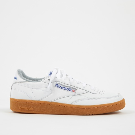 Club C 85 Gum - White/Reebok Royal/Flat Grey-Gum