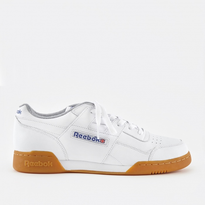 Reebok Workout Plus R12 - White/Reebok Royal/Flat Grey (Image 1)