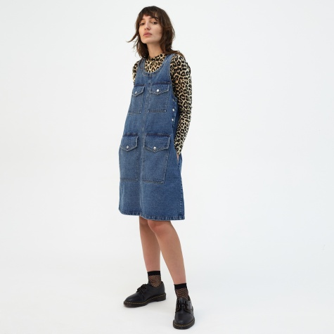 Ronny Denim Dress - Mid Blue