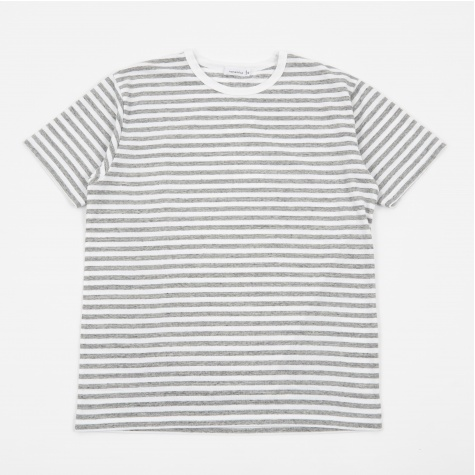 COOLMAX St Jersey T-Shirt - Heather Grey/White