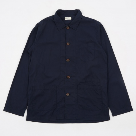 Bakers Overshirt - Navy Poplin