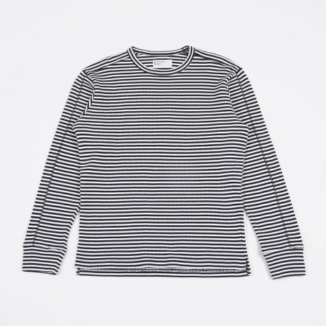 Home Crew Long Sleeve T-Shirt - Navy/White