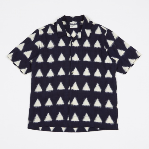 Road Short Sleeve Shirt - Ikat Arrow Navy