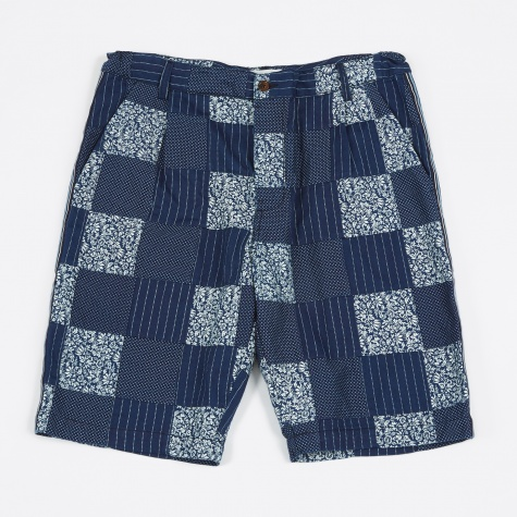 Walk Patchwork Shorts - Indigo