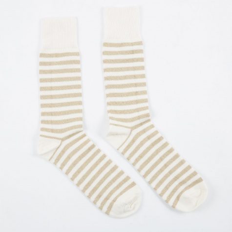 Stripe Sock - Ecru