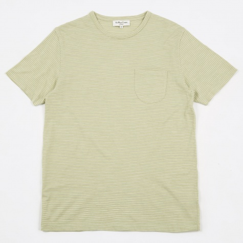 Narrow Stripe Pugsley Tee - Light Green