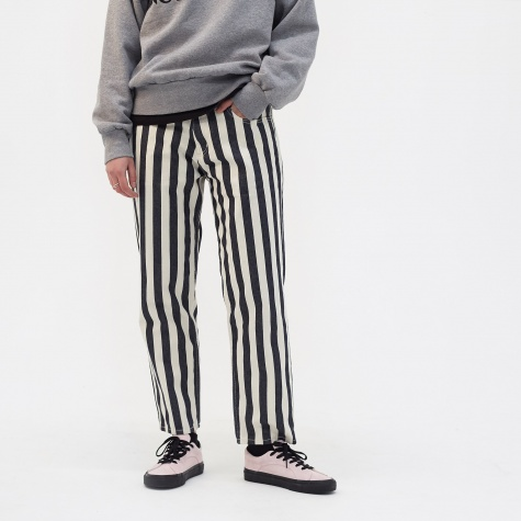 Striped Tearaway Jeans - Navy/Ecru