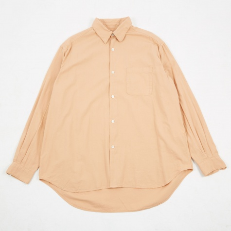 Basket Weave Shirt - Peach/Pink