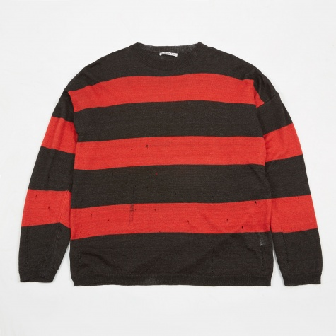 Popover Drop Knit - Red/Brown