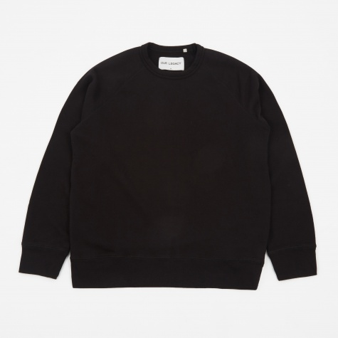 50's Great Loop Back Sweatshirt - Black