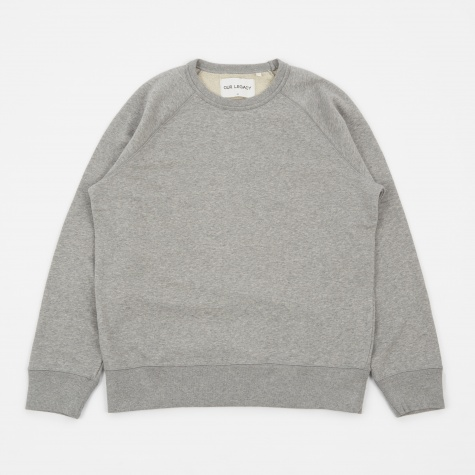 50's Great Loop Back Sweatshirt - Grey Melange