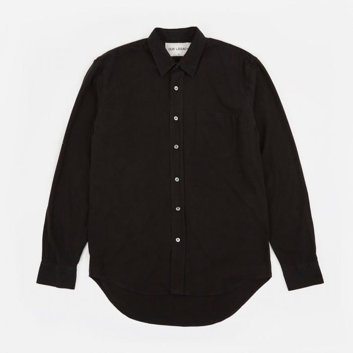 Our Legacy Classic Shirt - Black Silk (Image 1)