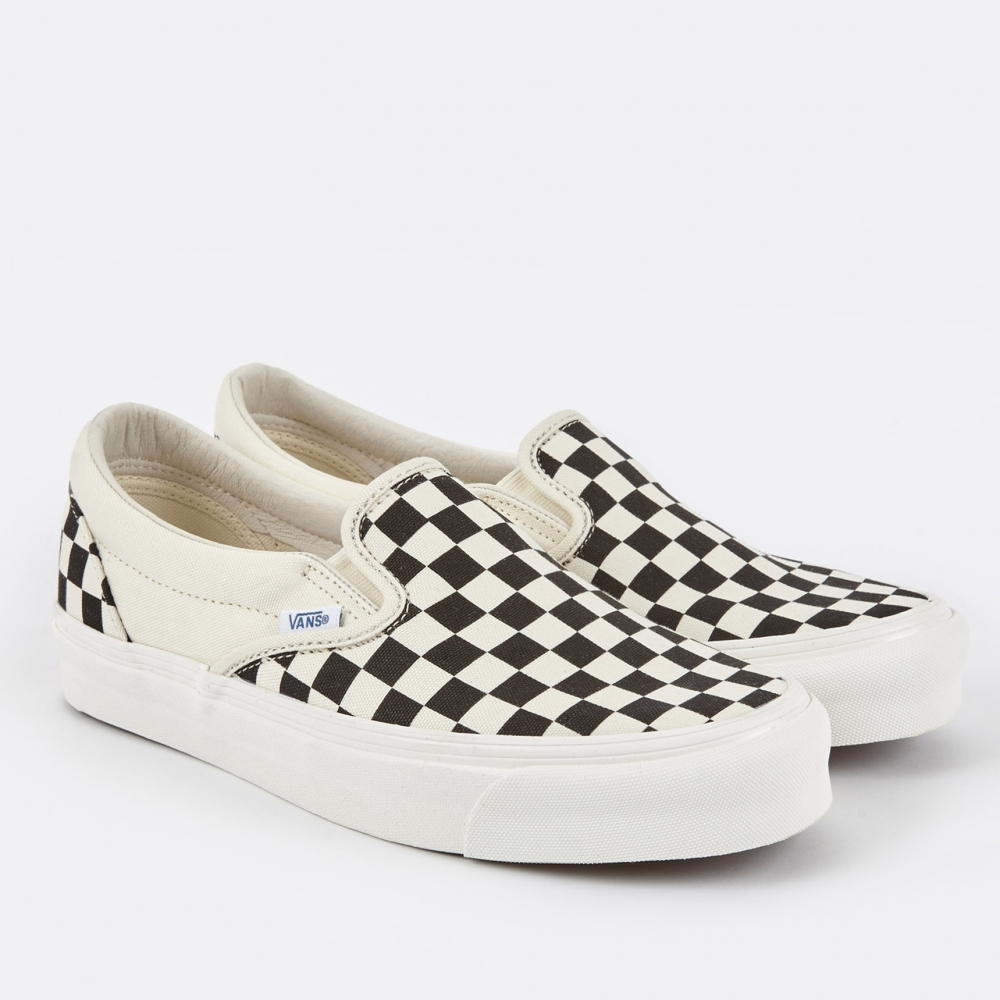 womens vans slip on checkerboard