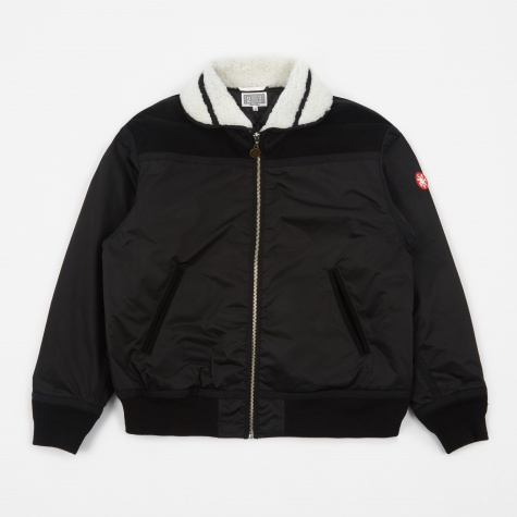 C.E Cav Empt Suede Shoulder Bomber Jacket - Black