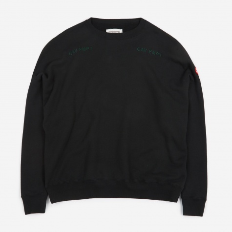 C.E Cav Empt World's Processes Crew Neck Sweatshirt - Black
