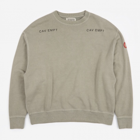 C.E Cav Empt MD Operations Crew Neck Sweatshirt - Khaki