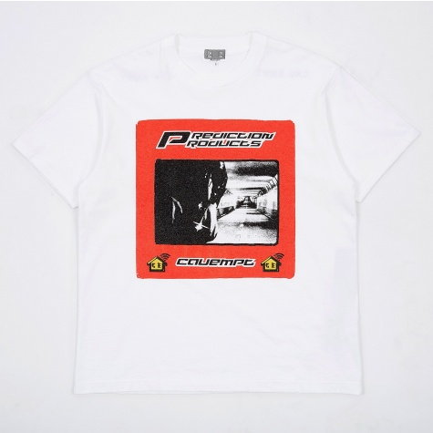 C.E Cav Empt Stripe Prediction T-Shirt - White