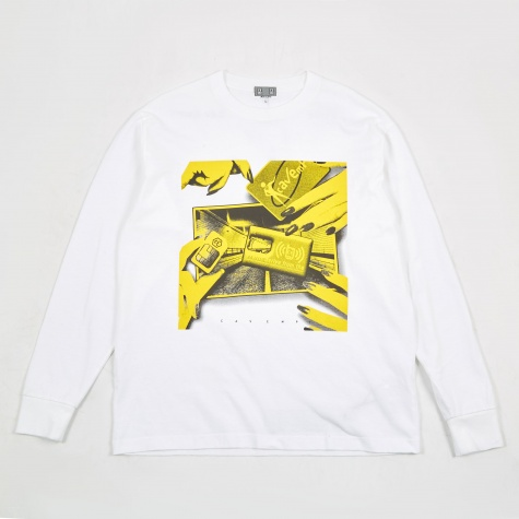 C.E Cav Empt Sim Tunnel Long Sleeve T-Shirt - White