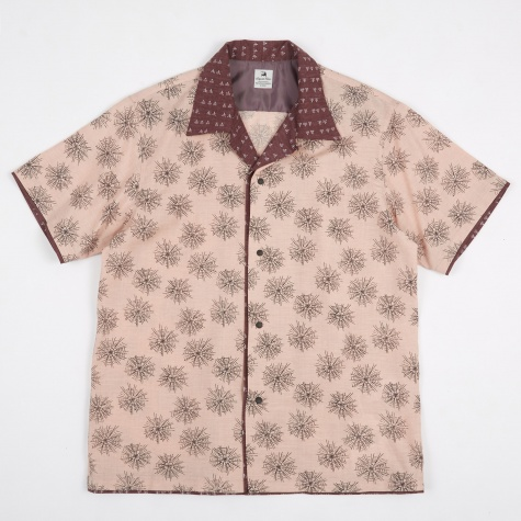 Sensou Open Collar H/S Shirt - Dusty Pink/Dusty