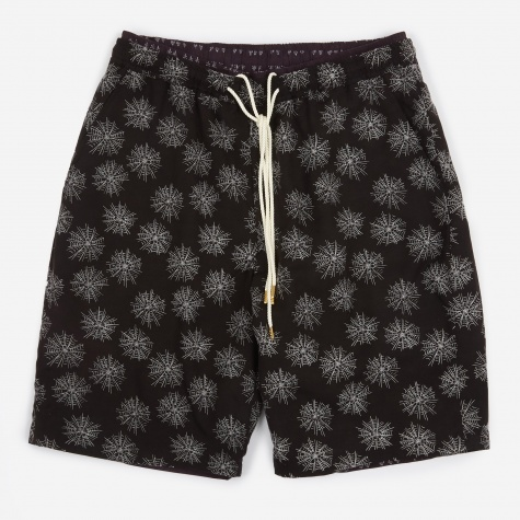 Sensou Shorts - Black/Dark Purple