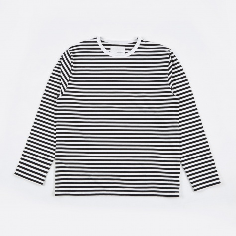 COOLMAX Stripe Jersey LS T-Shirt - Black/White