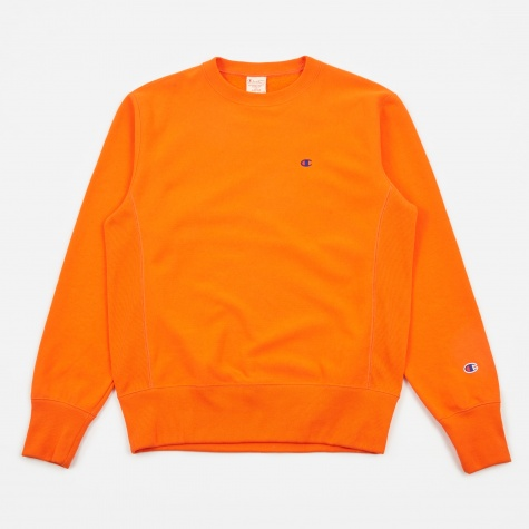 Classic Reverse Weave Crew Sweatshirt - Orange