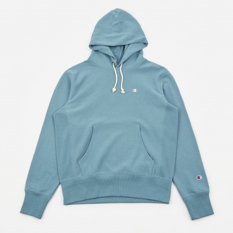 Classic Reverse Weave Hooded Sweatshirt - Teal